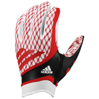 adidas adiFast Strapless Receiver Gloves - Men's - White / Red