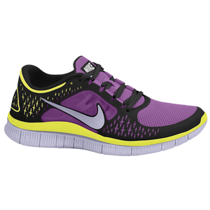 Nike Free Run + 3 - Women's - Laser Purple/Pure Violet/Black/Volt