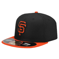 New Era 59Fifty Diamond Era BP Cap - Men's - San Francisco Giants - Black / Orange