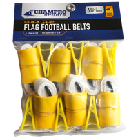 Champro Team Quick Clip Adjustable Flag Belt - Gold / Gold