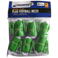 Champro Team Quick Clip Adjustable Flag Belt - Green / Green