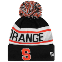 New Era College Biggest Fan Redux Knit - Men's - Syracuse Orange - Black / White