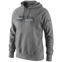 Nike NFL Fly Over camo Logo Hoodie - Men's - Seattle Seahawks - Grey / Navy