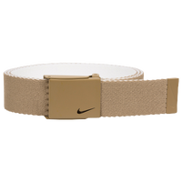 Nike Classic Essentials Web Golf Belt - Men's - Tan / White