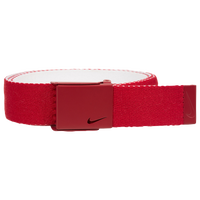 Nike Classic Essentials Web Golf Belt - Men's - Red / White