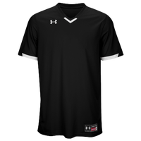 Under Armour Team Ignite V-Neck Baseball Jersey - Men's - Black / White