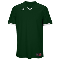 Under Armour Team Ignite V-Neck Baseball Jersey - Men's - Dark Green / White