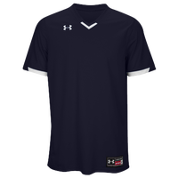 Under Armour Team Ignite V-Neck Baseball Jersey - Men's - Navy / White