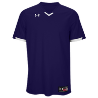 Under Armour Team Ignite V-Neck Baseball Jersey - Men's - Purple / White