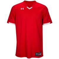 Under Armour Team Ignite V-Neck Baseball Jersey - Men's - Red / White