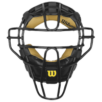 Wilson Dyna-Lite Steel Pro Umpire Mask - Adult - Black / Gold