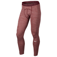 Nike Pro Cool Compression Tights - Men's - Red / Maroon