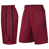 Jordan Double Crossover Shorts - Men's - Red / Black