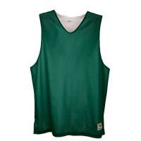 Eastbay Basic Reversible Mesh Tank - Boys' Grade School - Dark Green / White