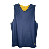 Eastbay Basic Reversible Mesh Tank - Boys' Grade School - Navy / Yellow