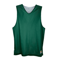 Eastbay Basic Reversible Mesh Tank - Boys' Grade School - Dark Green / Silver