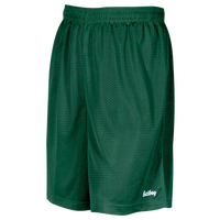 "Eastbay 8"" Basic Mesh Shorts - Boys' Grade School - Dark Green / Dark Green"