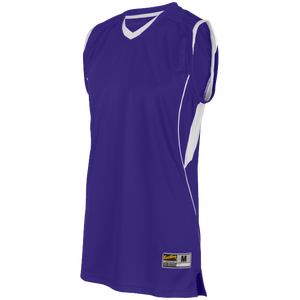 Eastbay EVAPOR Super Court Jersey - Boys' Grade School - Purple/White
