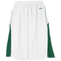 Eastbay EVAPOR Super Court Shorts - Boys' Grade School - White / Dark Green