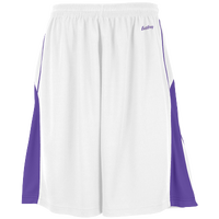 Eastbay EVAPOR Super Court Shorts - Boys' Grade School - White / Purple