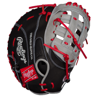 Rawlings Heart of the Hide First Base Mitt - Men's - Black / Silver