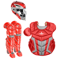 All Star System 7 Intermediate Catcher's Kit - Grade School - Red / Grey