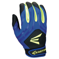Easton HF3 Hyperskin Fastpitch Batting Gloves - Youth - Blue / Black