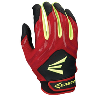 Easton HF3 Hyperskin Fastpitch Batting Gloves - Youth - Red / Black