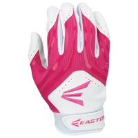 Easton HF3 Hyperskin Fastpitch Batting Gloves - Youth - White / Pink