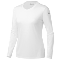 ASICS� Ready-Set Long Sleeve T-Shirt - Women's - All White / White