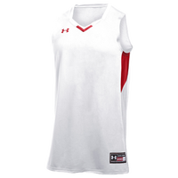 Under Armour Team Fury Jersey - Boys' Grade School - White / Red