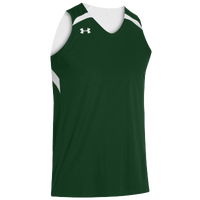 Under Armour Team Clutch Reversible Jersey - Men's - Dark Green / White