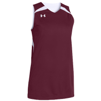 Under Armour Team Clutch Reversible Jersey - Women's - Maroon / White