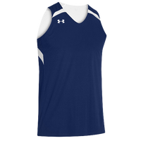 Under Armour Youth Team Clutch Reversible Jersey - Boys' Grade School - Navy / White