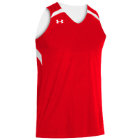 Under Armour Youth Team Clutch Reversible Jersey - Boys' Grade School - Red / White