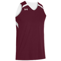 Under Armour Youth Team Clutch Reversible Jersey - Boys' Grade School - Maroon / White