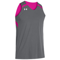 Under Armour Youth Team Clutch Reversible Jersey - Boys' Grade School - Grey / Pink