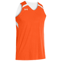 Under Armour Youth Team Clutch Reversible Jersey - Boys' Grade School - Orange / White