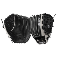 Wilson A2000 V125 Superskin Victory FP Glove - Women's - Black / White