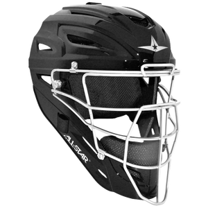All Star System 7 MVP Catcher's Head Gear - Black