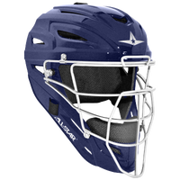 All Star System 7 MVP Catcher's Head Gear - Navy / White