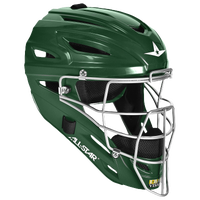 All Star System 7 MVP Catcher's Head Gear - Dark Green / Dark Green