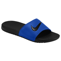 Nike Benassi Swoosh Slide - Men's - Blue / Black