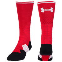 Under Armour Football Crew Socks - Men's - Red / Black