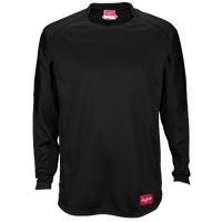 Rawlings Dugout Fleece Pullover - Men's - All Black / Black