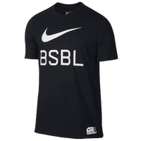 Nike Baseball Swoosh 1.6 T-Shirt - Men's - Black / White
