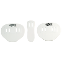 Schutt Vinyl-Dipped Pad Sets - Men's - All White / White