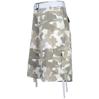 Southpole Belted Camo Print Cargo Shorts - Men's - White / Tan
