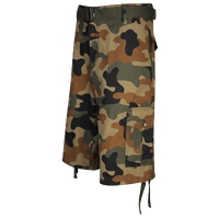 Southpole Belted Camo Print Cargo Shorts - Men's - Tan / Brown
