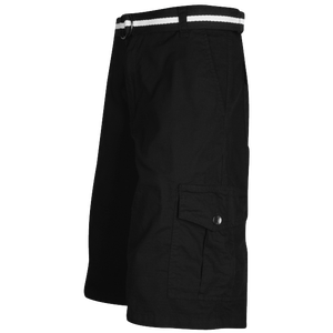 Southpole Belted Ripstop Cargo Shorts - Men's - Black